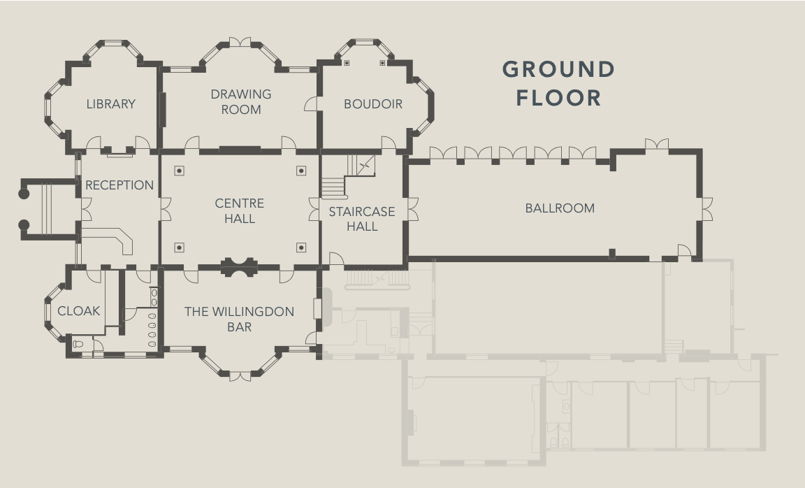 Exclusive wedding venue, Hedsor House floor plan, Hedsor House, luxury party, luxury event planners, luxury wedding planners, Windsor wedding planner
