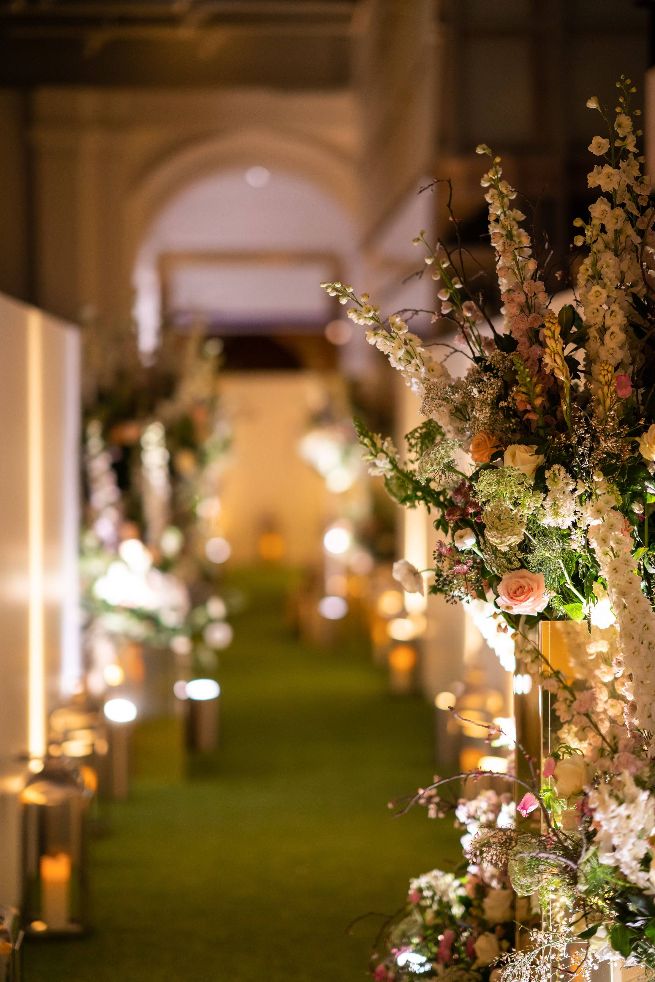 Luxury events at the Victoria and Albert Museum, luxury event planners, garden meadow walkthrough